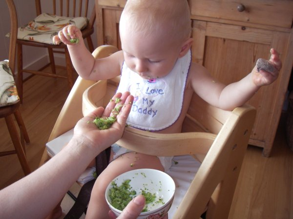 Leilani loves to eat broccoli with her fingers and hands